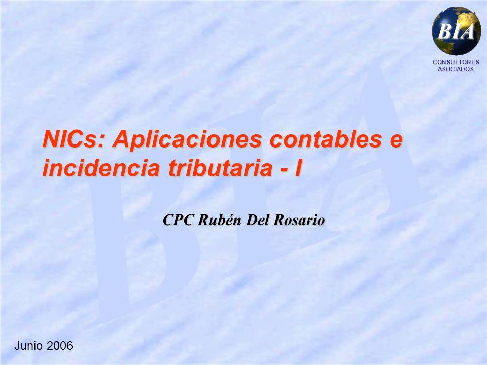 NICs: Aplicaciones contables e incidencia tributaria - I