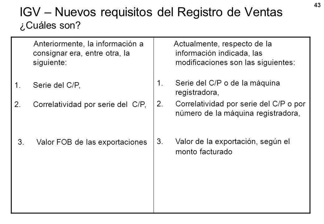 IGV – Nuevos requisitos del Registro de Ventas ¿Cuáles son
