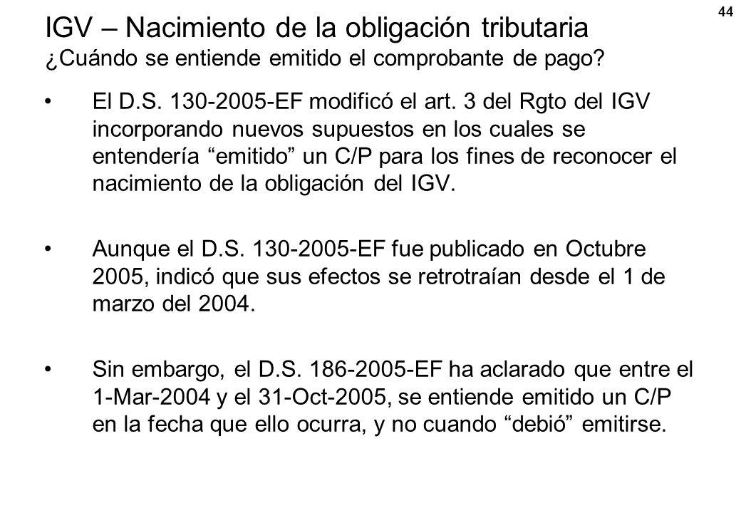 IGV – Nacimiento de la obligación tributaria ¿Cuándo se entiende emitido el comprobante de pago