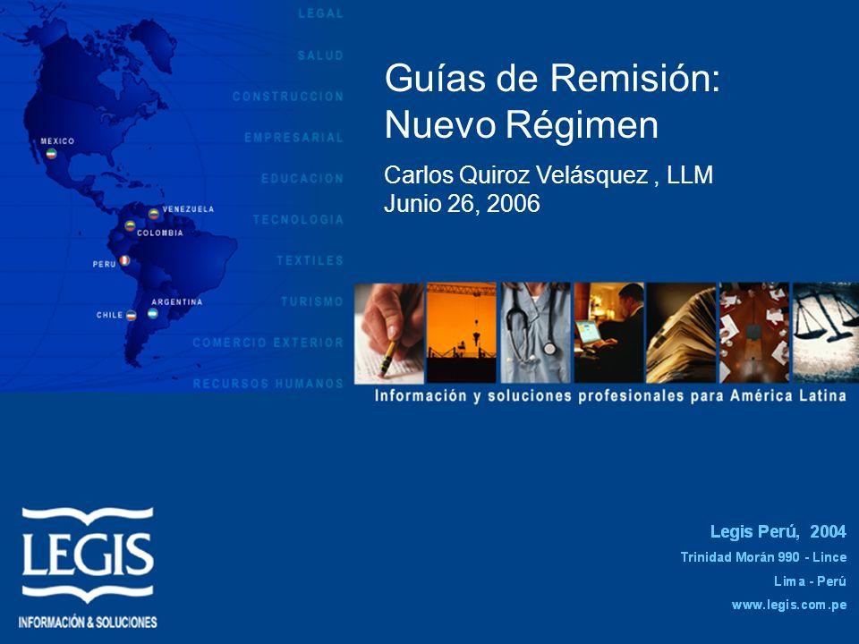 Guías de Remisión: Nuevo Régimen