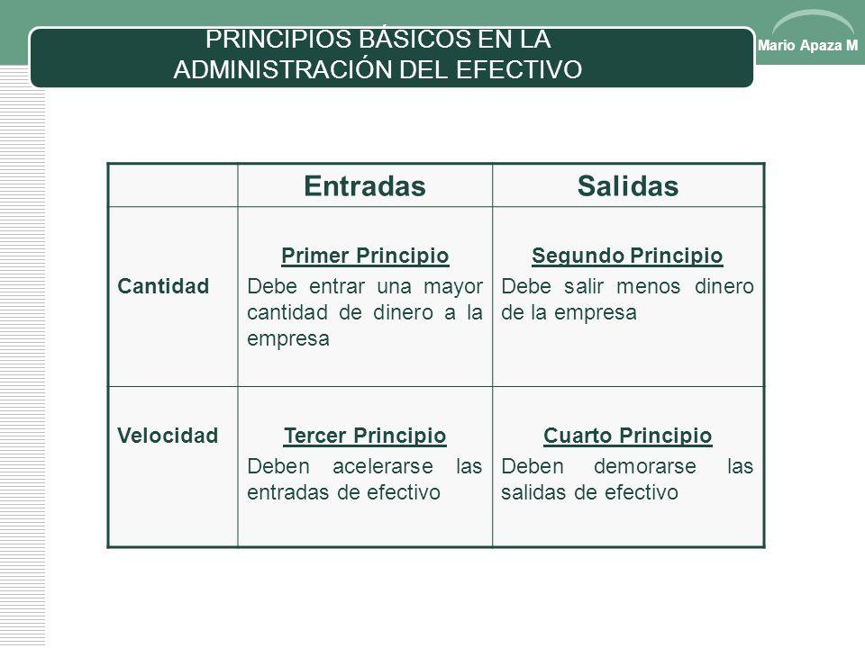 PRINCIPIOS BÁSICOS EN LA ADMINISTRACIÓN DEL EFECTIVO