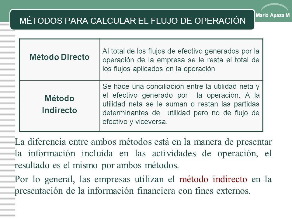 MÉTODOS PARA CALCULAR EL FLUJO DE OPERACIÓN