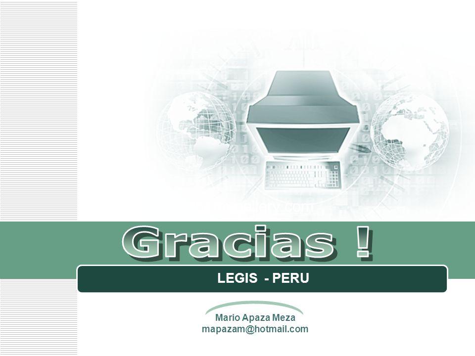 www.themegallery.com Gracias ! LEGIS - PERU