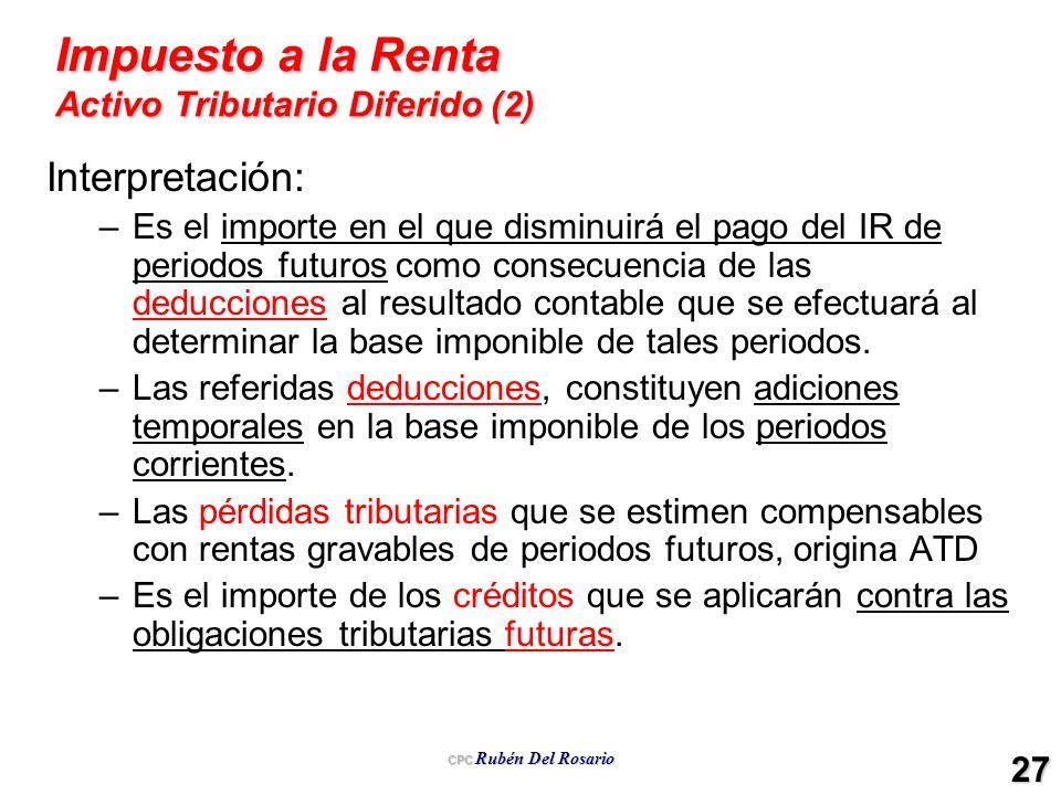 Impuesto a la Renta Activo Tributario Diferido (2)
