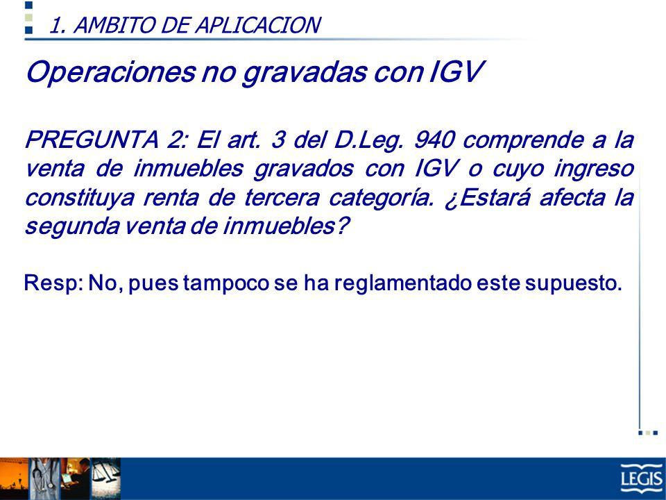 Operaciones no gravadas con IGV