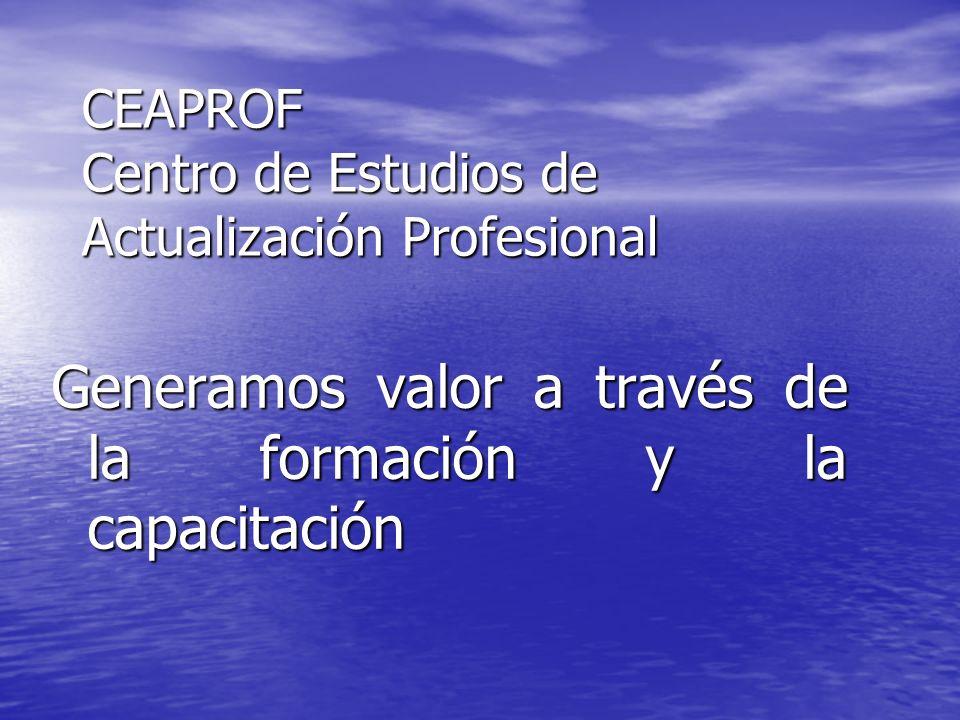 CEAPROF Centro de Estudios de Actualización Profesional