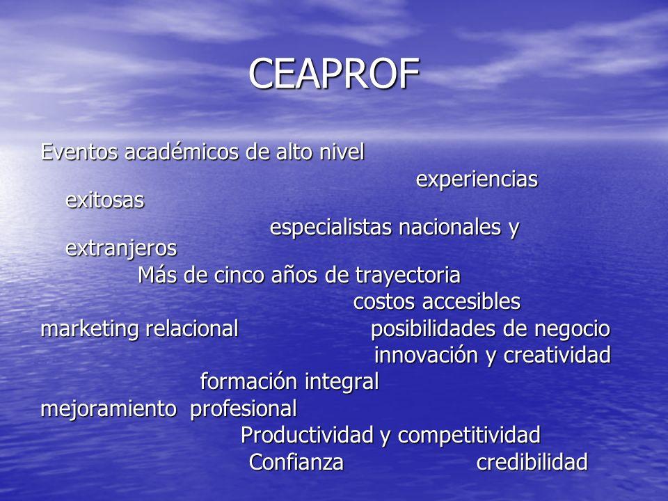 CEAPROF Eventos académicos de alto nivel experiencias exitosas