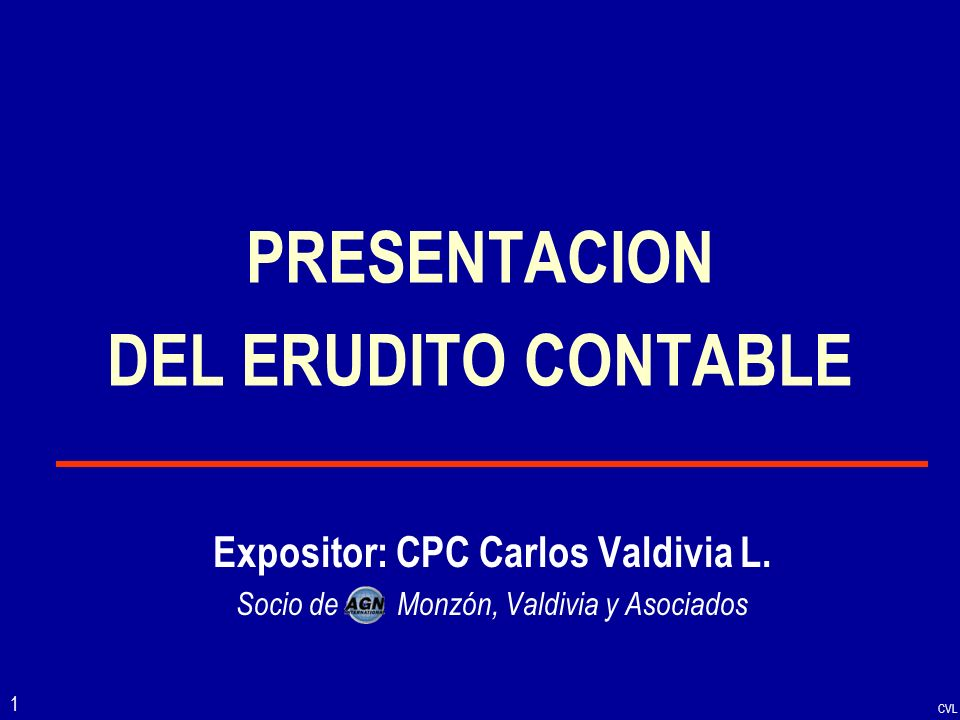 PRESENTACION DEL ERUDITO CONTABLE