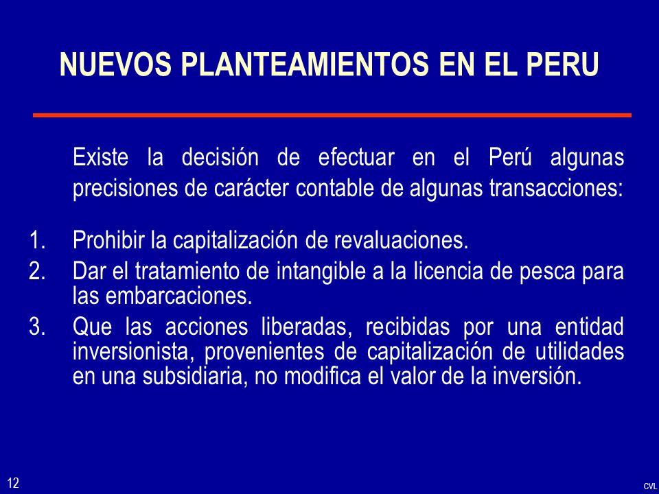 NUEVOS PLANTEAMIENTOS EN EL PERU