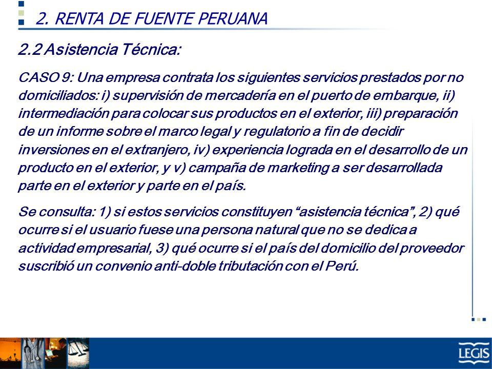 2. RENTA DE FUENTE PERUANA