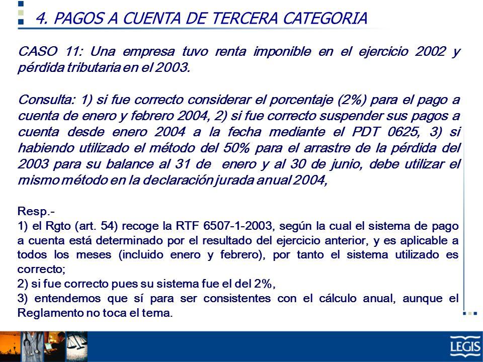 4. PAGOS A CUENTA DE TERCERA CATEGORIA