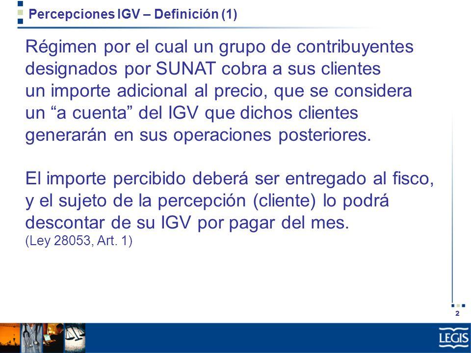 Percepciones IGV – Definición (1)