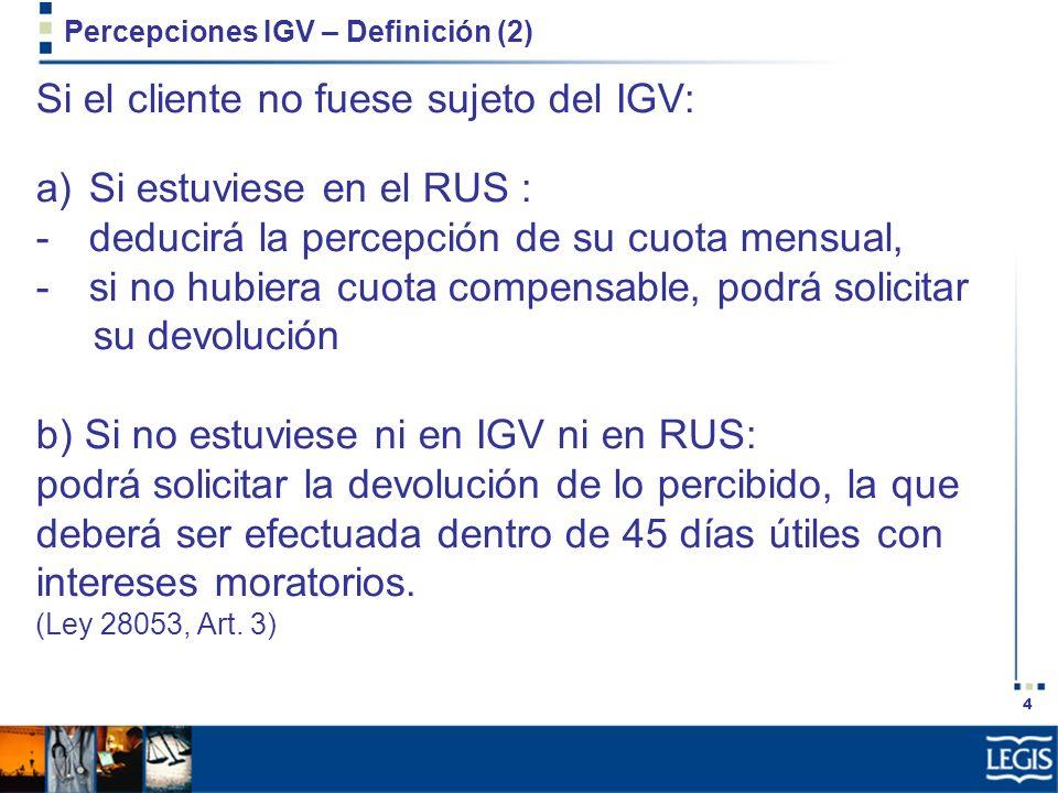 Percepciones IGV – Definición (2)