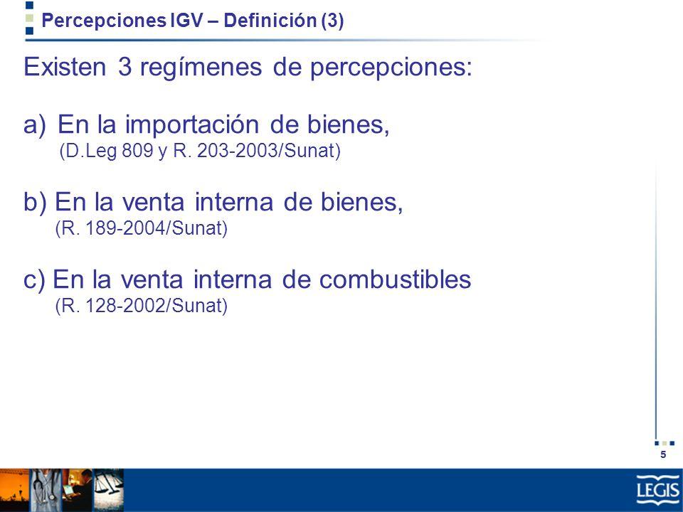 Percepciones IGV – Definición (3)