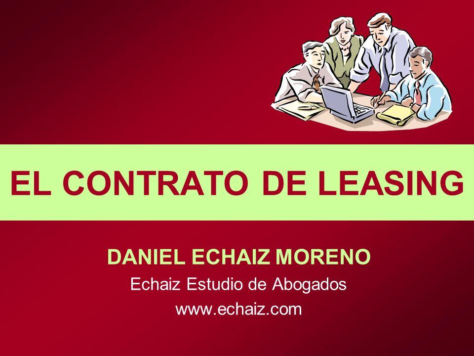 DANIEL ECHAIZ MORENO Echaiz Estudio de Abogados www.echaiz.com