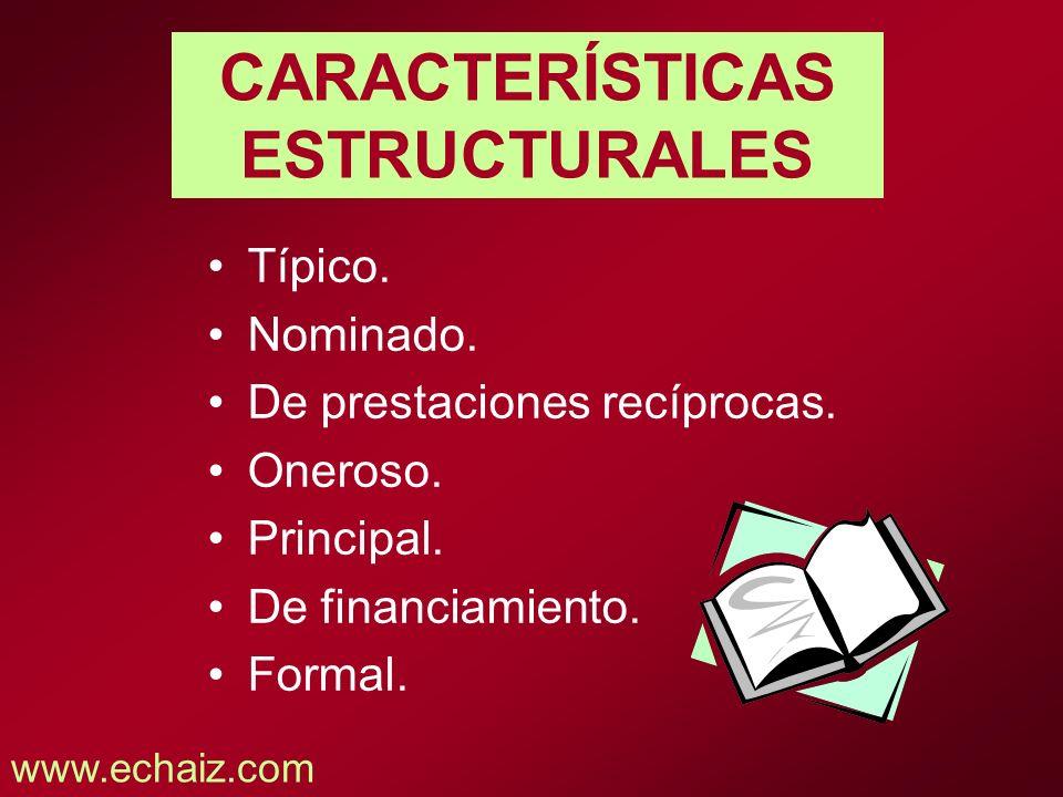 CARACTERÍSTICAS ESTRUCTURALES