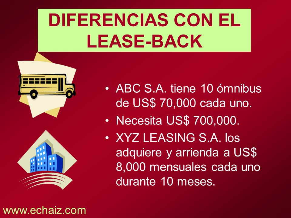 DIFERENCIAS CON EL LEASE-BACK