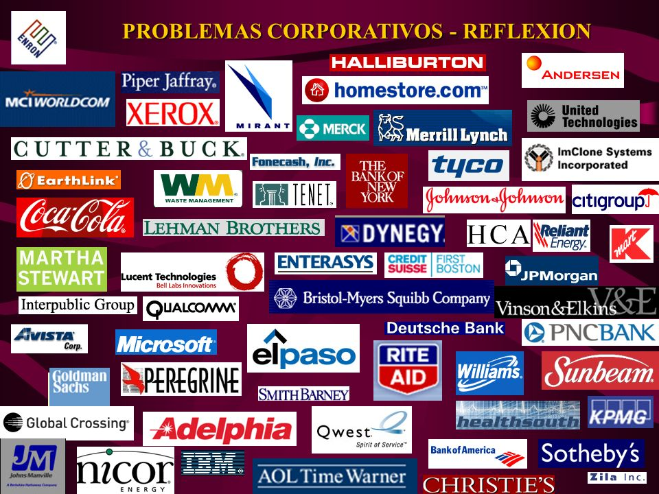 PROBLEMAS CORPORATIVOS - REFLEXION