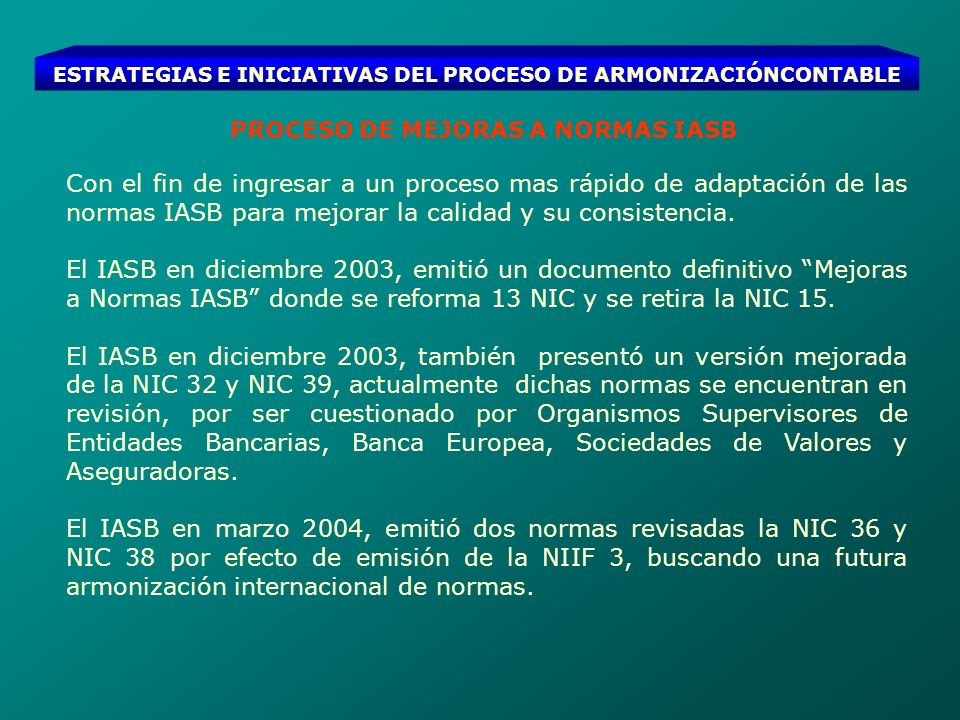 ESTRATEGIAS E INICIATIVAS DEL PROCESO DE ARMONIZACIÓNCONTABLE