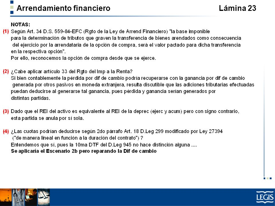 Arrendamiento financiero Lámina 23