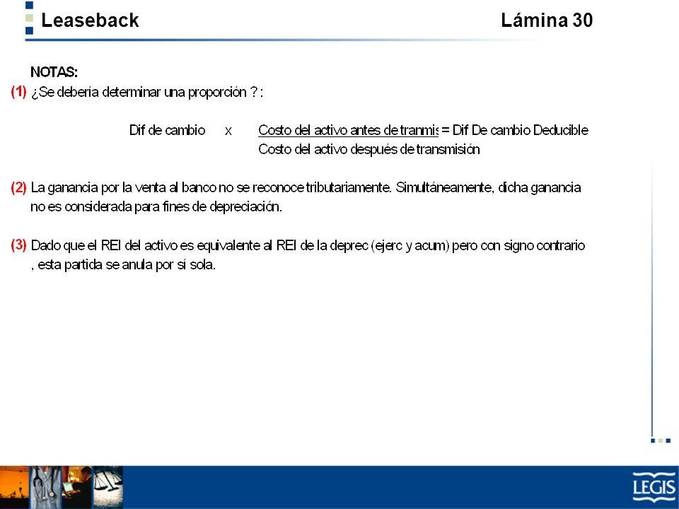 Leaseback Lámina 30