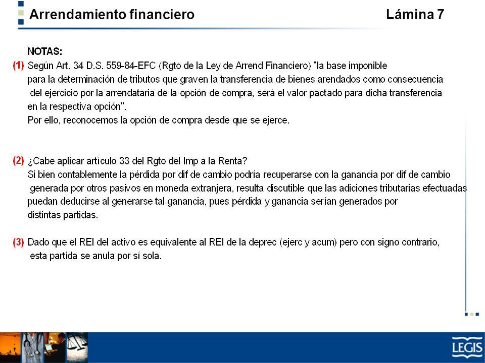Arrendamiento financiero Lámina 7