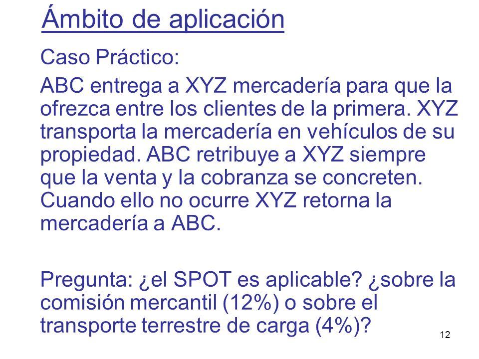 Ámbito de aplicación Caso Práctico: