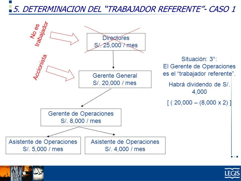 5. DETERMINACION DEL TRABAJADOR REFERENTE - CASO 1