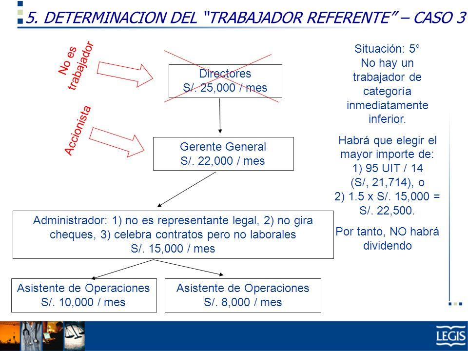 5. DETERMINACION DEL TRABAJADOR REFERENTE – CASO 3