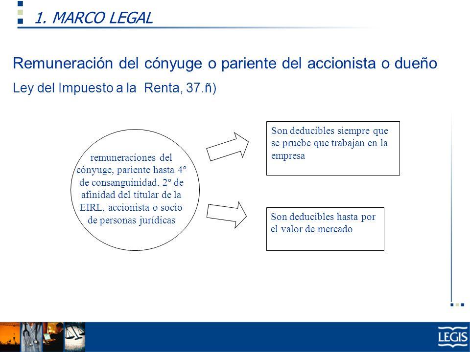 Remuneración del cónyuge o pariente del accionista o dueño