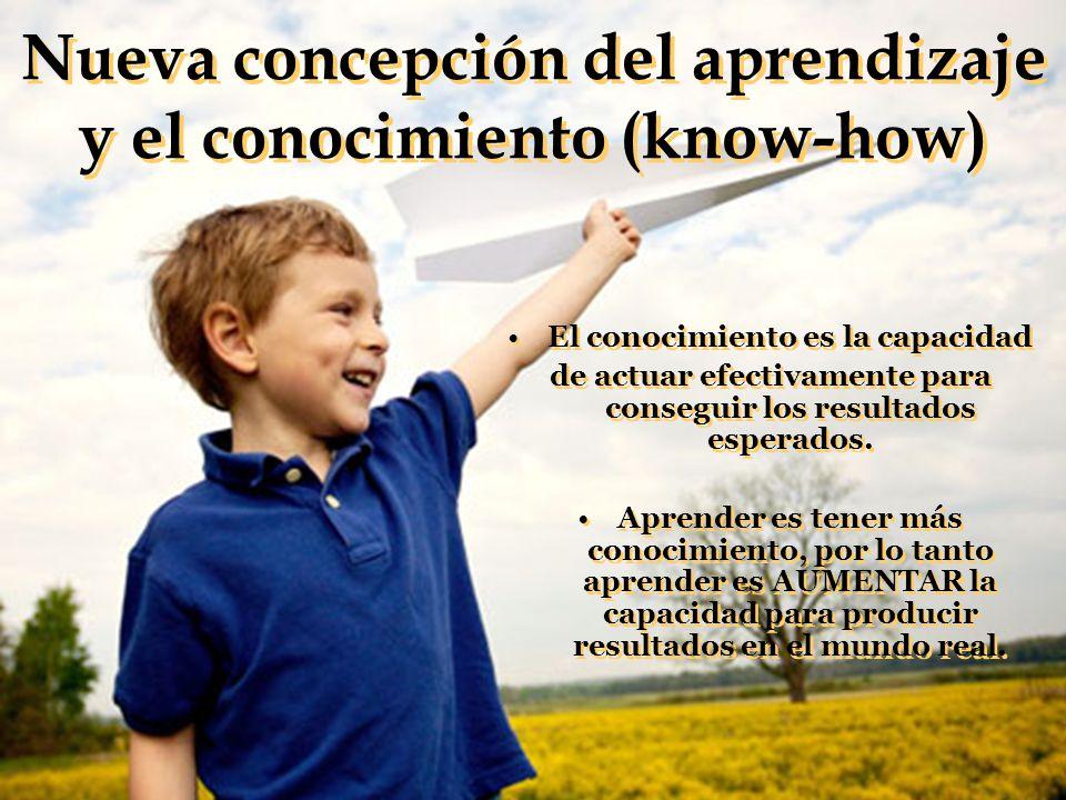 Nueva concepción del aprendizaje y el conocimiento (know-how)