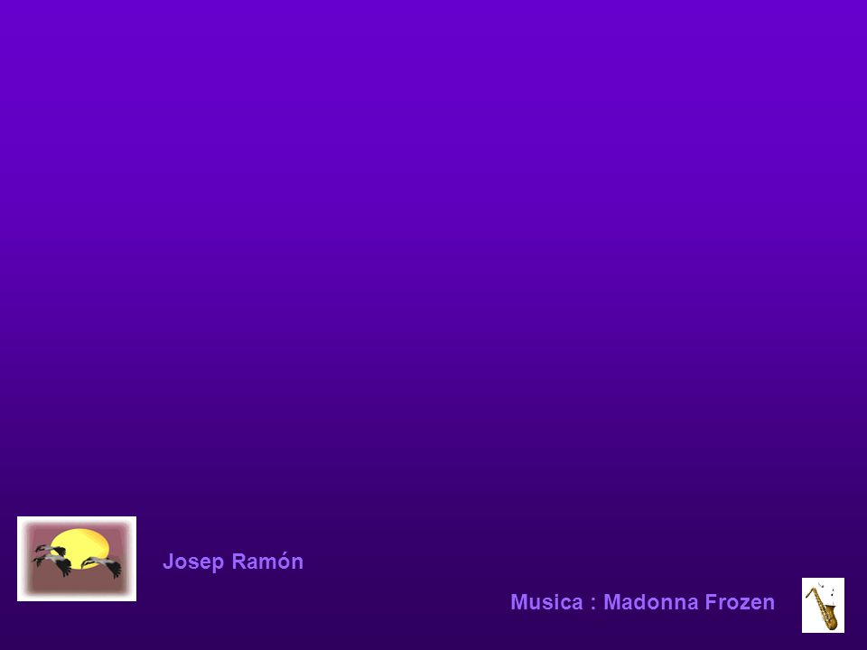Josep Ramón Musica : Madonna Frozen