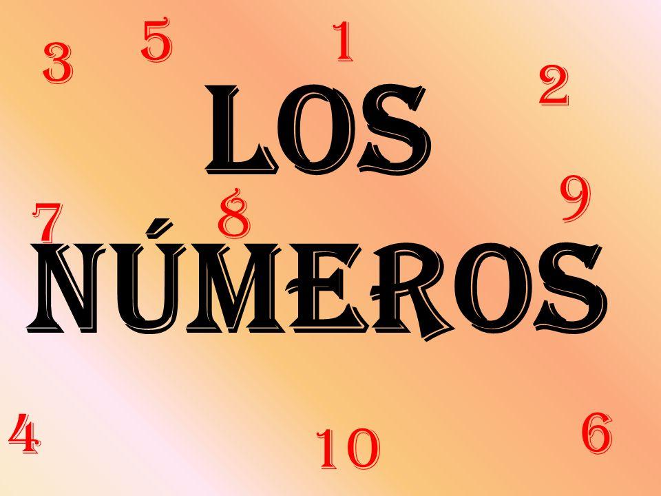 5 1 3 Los números 2 9 8 7 4 6 10