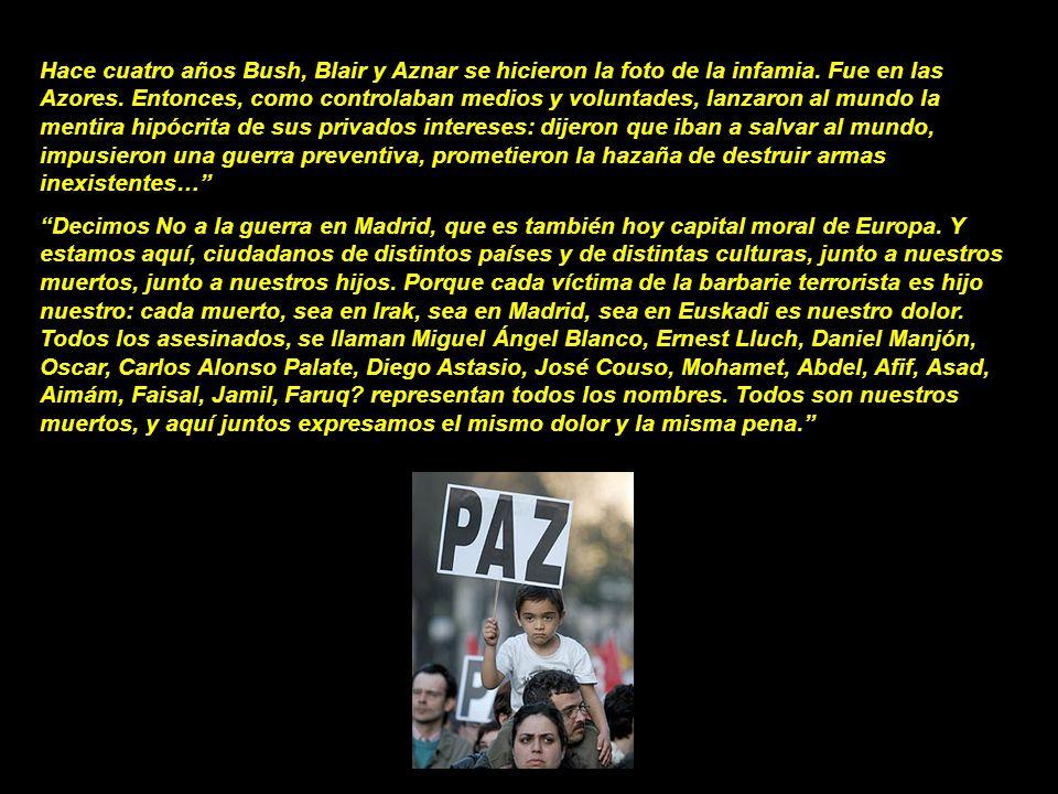 Hace cuatro años Bush, Blair y Aznar se hicieron la foto de la infamia