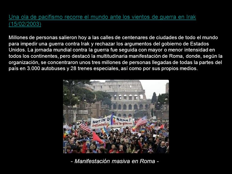 - Manifestación masiva en Roma -