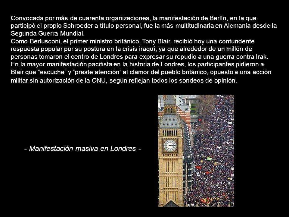 - Manifestación masiva en Londres -