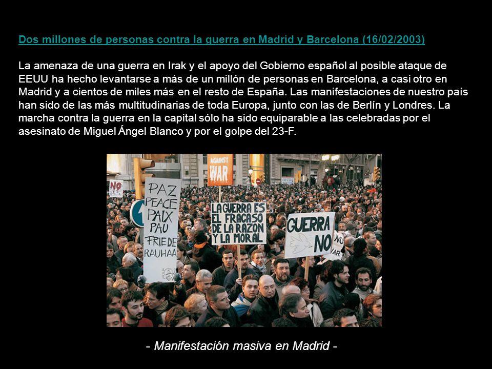 - Manifestación masiva en Madrid -