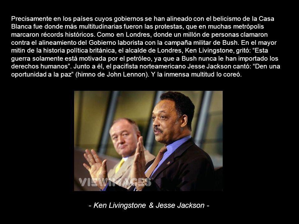 - Ken Livingstone & Jesse Jackson -