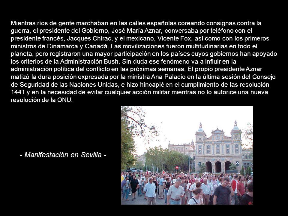 - Manifestación en Sevilla -