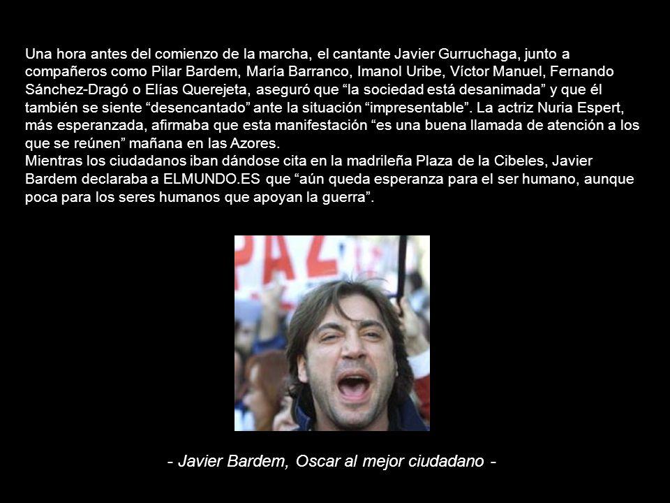 - Javier Bardem, Oscar al mejor ciudadano -