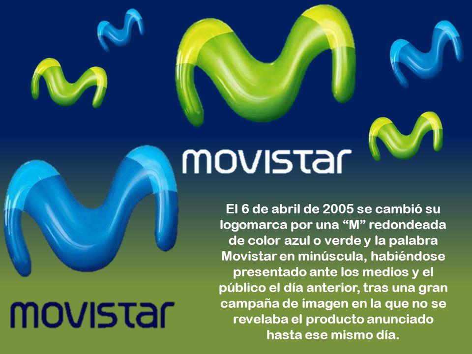El 6 de abril de 2005 se cambió su logomarca por una M redondeada de color azul o verde y la palabra Movistar en minúscula, habiéndose presentado ante los medios y el público el día anterior, tras una gran campaña de imagen en la que no se revelaba el producto anunciado hasta ese mismo día.