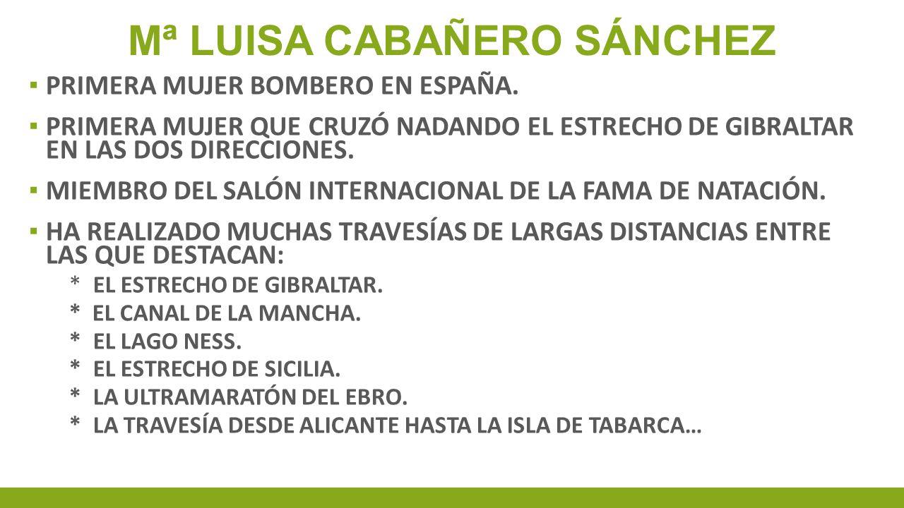 Mª LUISA CABAÑERO SÁNCHEZ