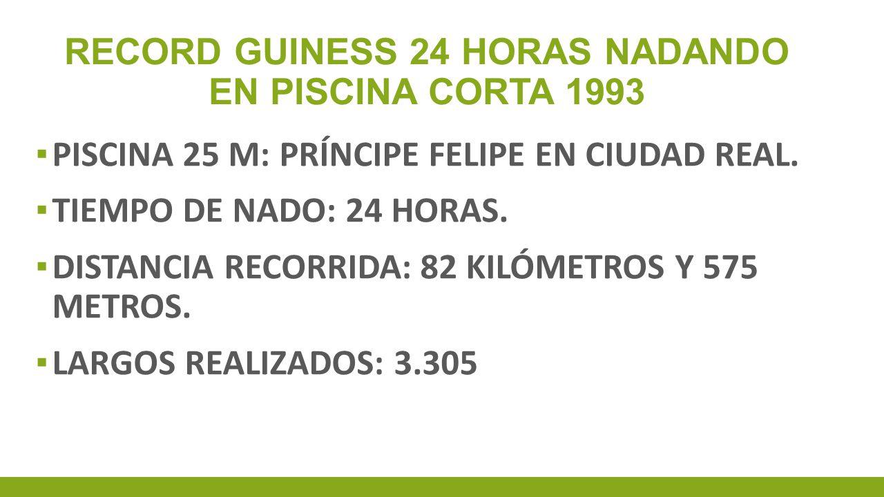 RECORD GUINESS 24 HORAS NADANDO EN PISCINA CORTA 1993