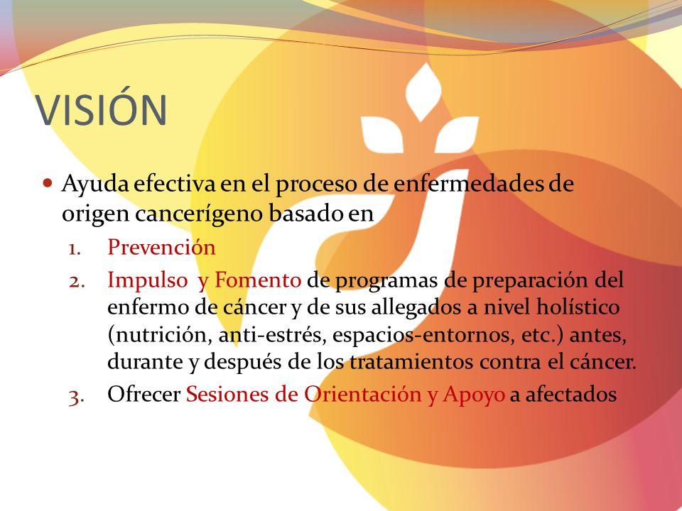 VISIÓN Ayuda efectiva en el proceso de enfermedades de origen cancerígeno basado en. Prevención.