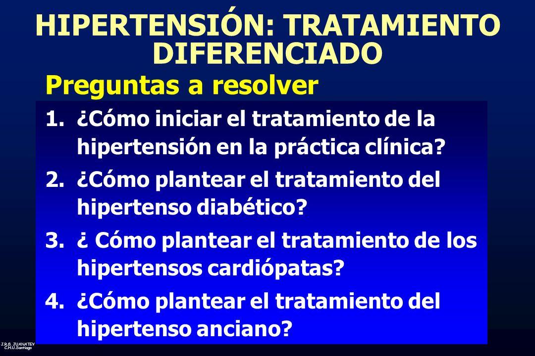 HIPERTENSIÓN: TRATAMIENTO DIFERENCIADO