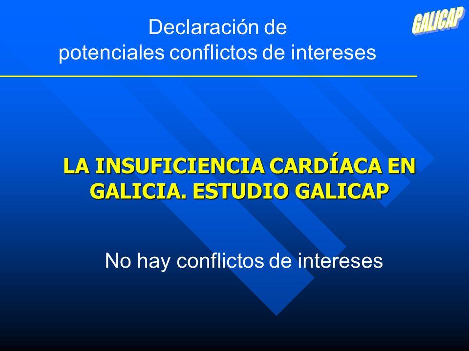 LA INSUFICIENCIA CARDÍACA EN GALICIA. ESTUDIO GALICAP