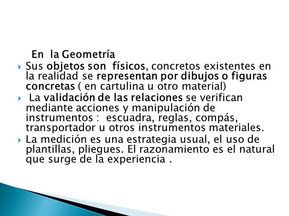 En la Geometría