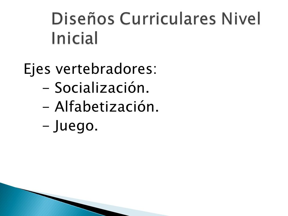 Diseños Curriculares Nivel Inicial