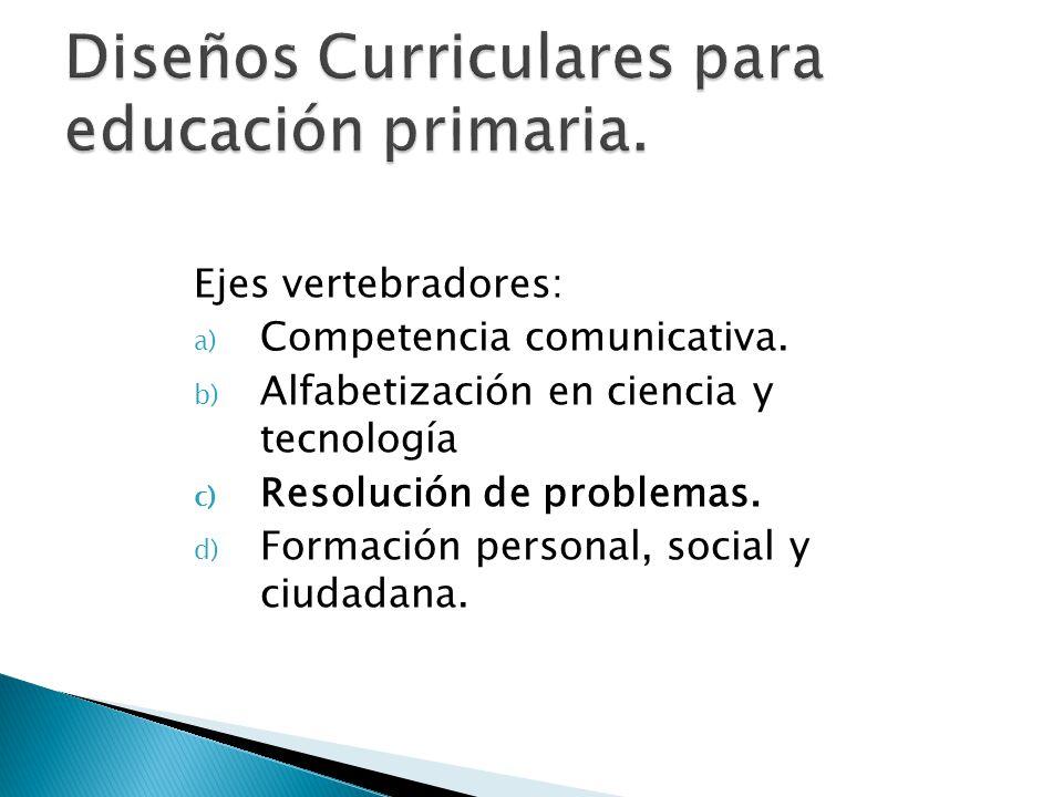 Diseños Curriculares para educación primaria.