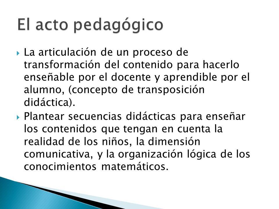 El acto pedagógico